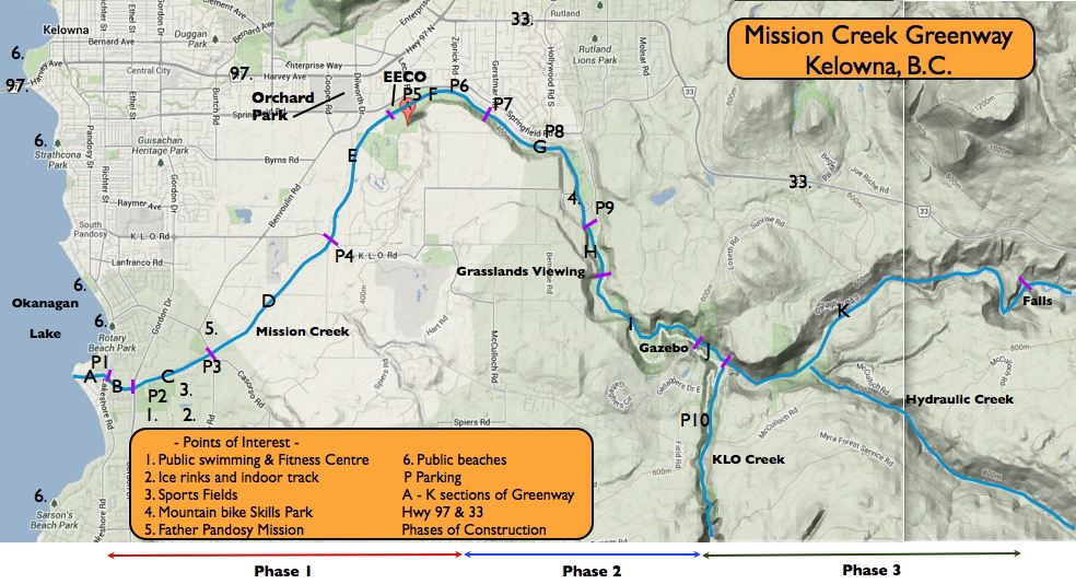 mission creek greenway trail map